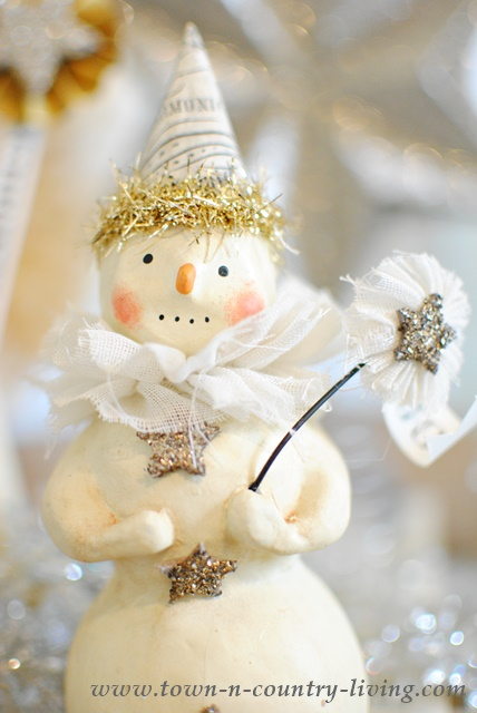 DIY Christmas Decor - Vintage Style Snowman