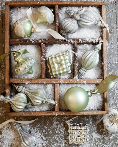 Sparkle and Snowflake Ornaments from Balsam Hill