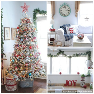 Town and Country Living Christmas Home Tour