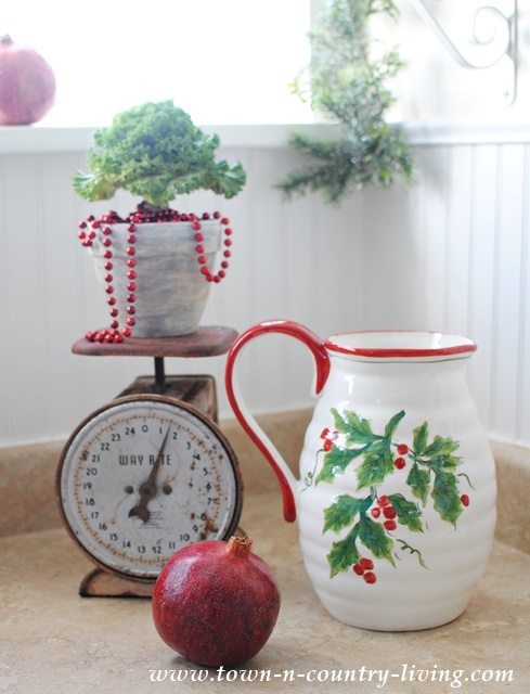 Holly and Berry Christmas Pitcher from Home Goods