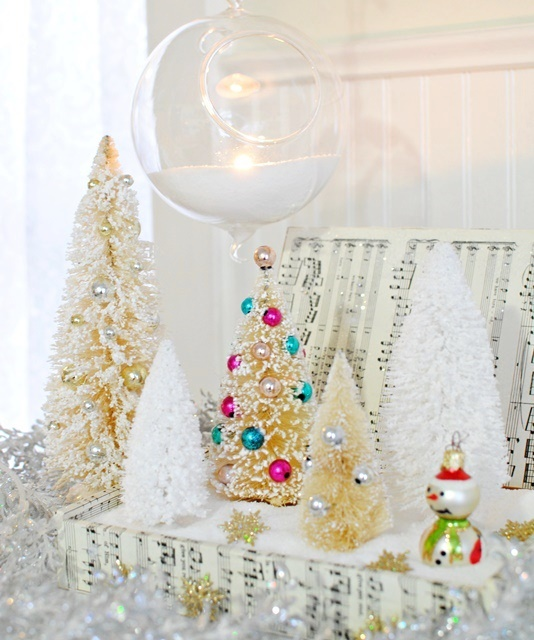 Cigar Box Turned Snowy Christmas Scene. Such an easy DIY project!