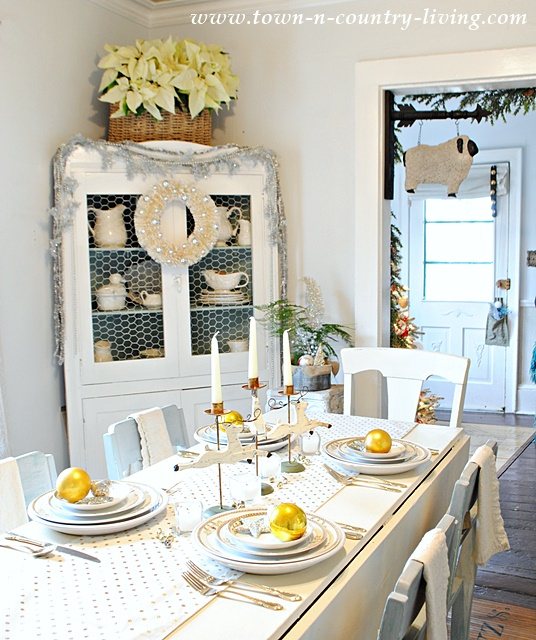 Dining Hutch and Holiday Tablescape