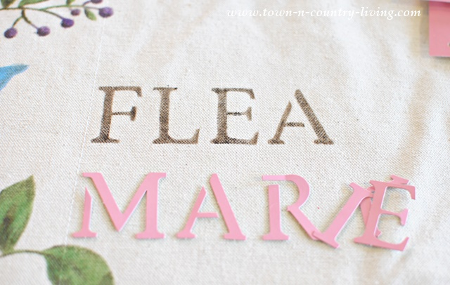 How to stencil letters onto canvas bag