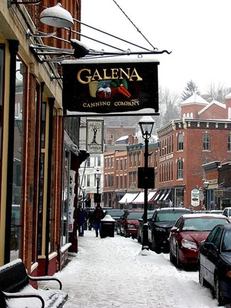 Downtown Galena Illinois in Winter