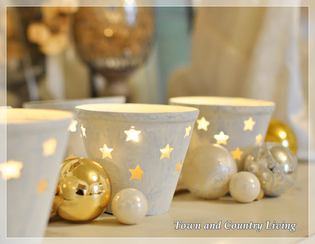 Painted DIY Christmas Votives