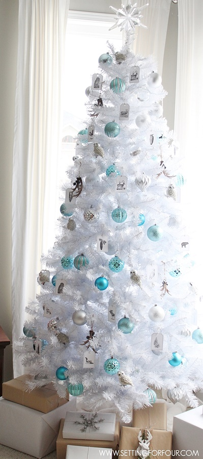 White Glam Christmas Tree