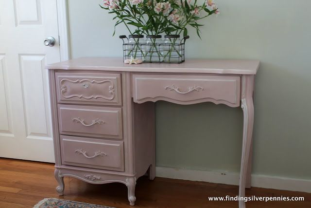 Pink Desk by Finding Silver Pennies