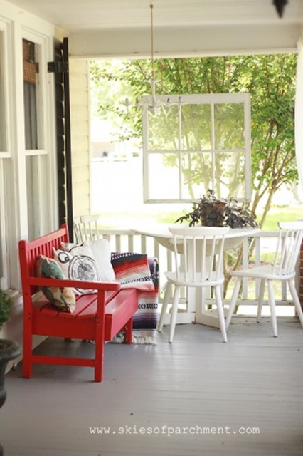 Front Porch at Skies of Parchment