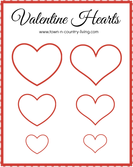 It is a photo of Crazy Valentine Template Printable