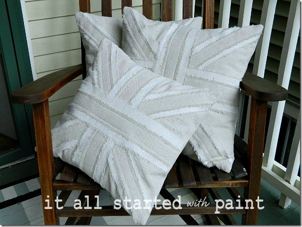 Union Jack Pillows from It All Started with Paint