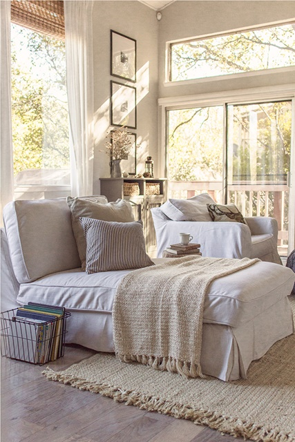 Light and Airy Living Room at Jenna Sue Design