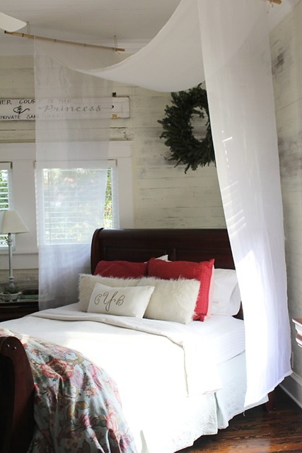 Cottage Style Master Bedroom. See the full home tour!