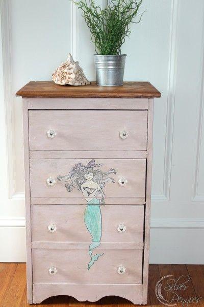 Pink Mermaid Dresser