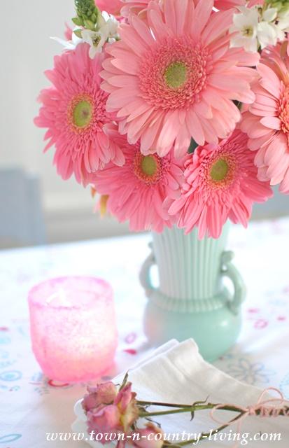 Pink Gerbera Daisy Flower Arrangement
