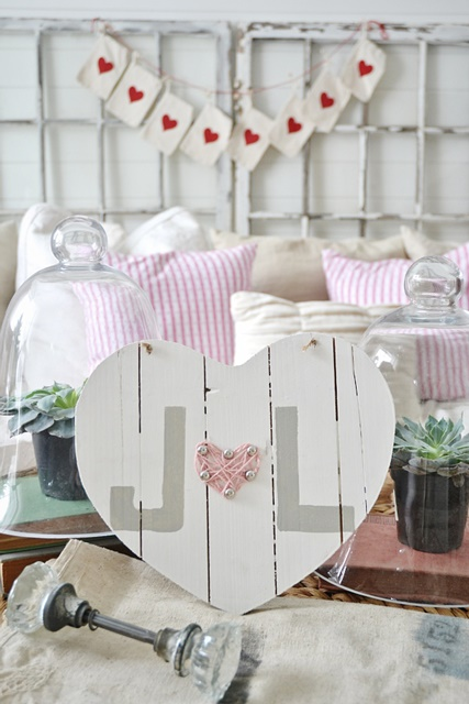 Pink Wood Heart by Liz Marie Blog