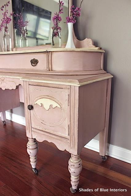 Pink Painted Vanity