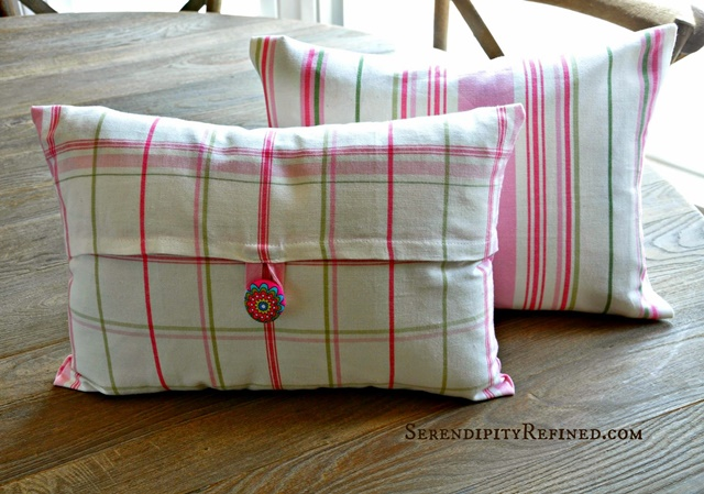 Tea Towel Pillows by Serendipity Refined