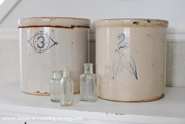 Numbered Stoneware Crocks are a staple of farmhouse style