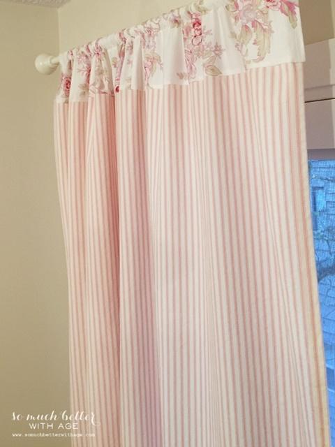Pink Ticking Curtains