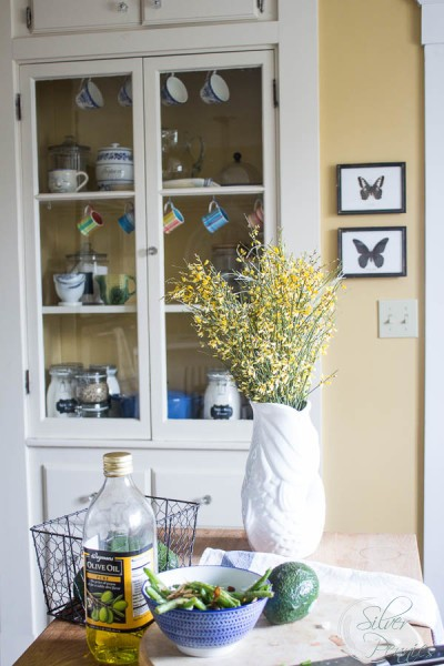 Sunny Kitchen with Built-in Hutch
