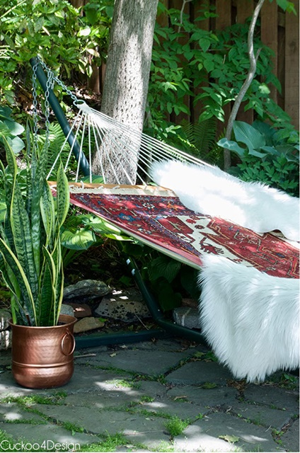 Outdoor Hammock in a Backyard Garden