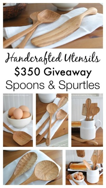 Handcrafted Wooden Spoons and a $350 Giveaway