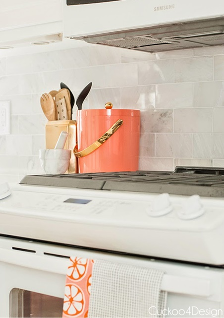 Color in a traditional kitchen with a modern emphasis
