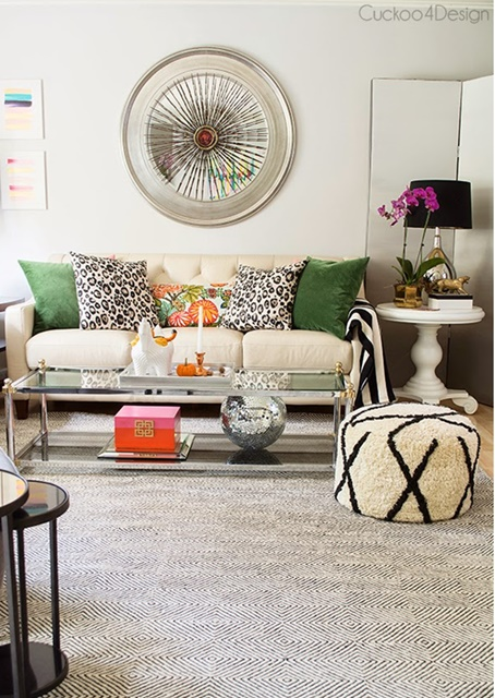 Eclectic Living Room filled with color and inspiration