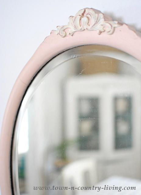 Vintage Pink Mirror