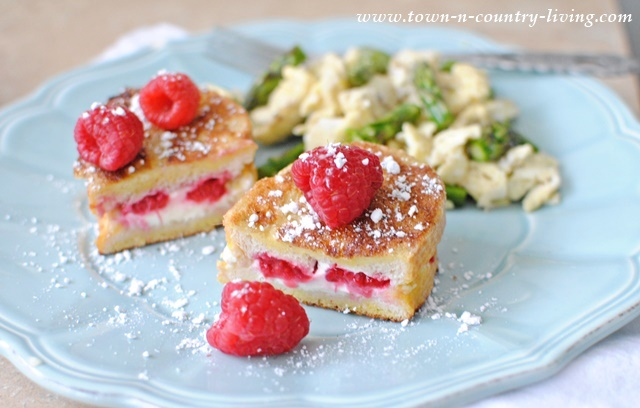 Raspberry Stuffed French Toast with Scrambled Eggs