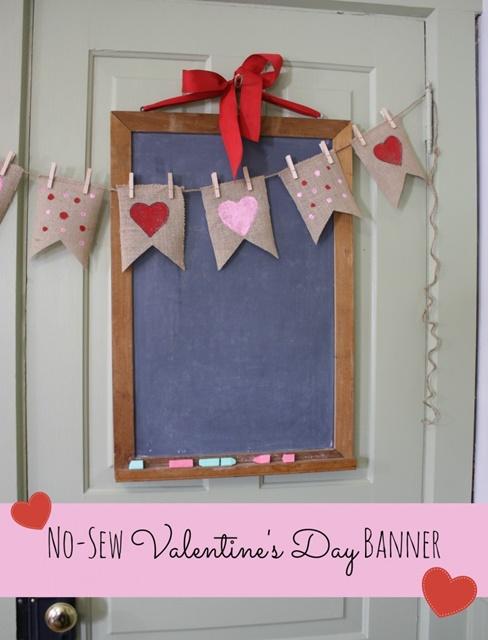 No Sew Valentine's Day Banner
