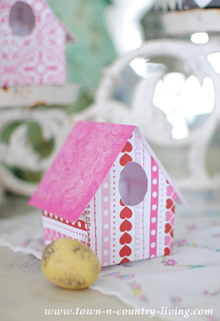 DIY Paper Birdhouses.