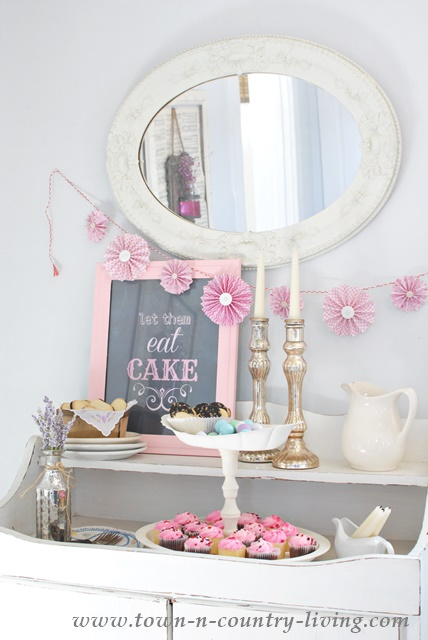 Dessert bar made with thrift store finds under $15!!