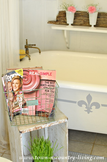 Reading Magazines in a Claw Foot Tub