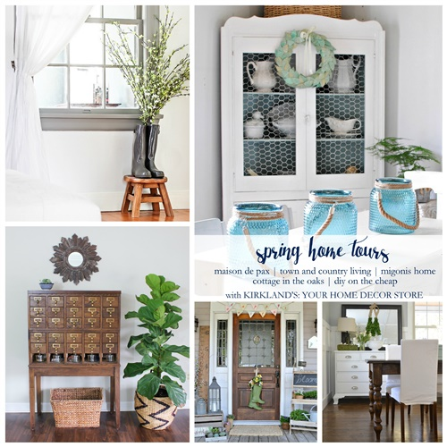 Spring Home Tour Collage