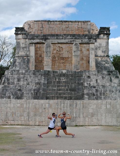 Sports arena at the Mayan ruins