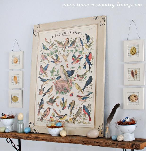 Spring Bird Mantel