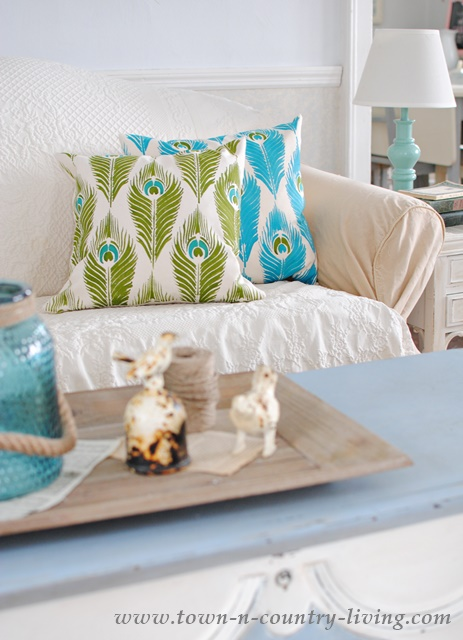 Stenciled Pillows from Paint-a-Pillow
