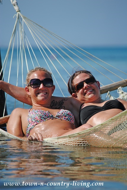 In the hammock at Cozumel