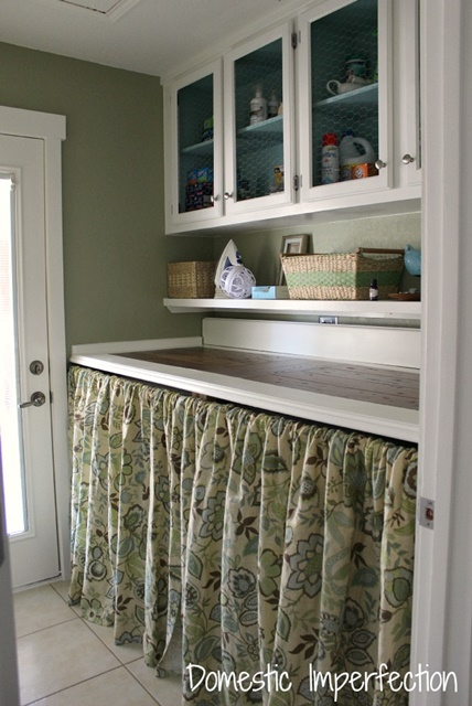 Small yet functional laundry room