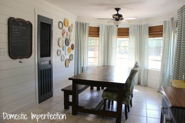 Planked Wall Dining Room