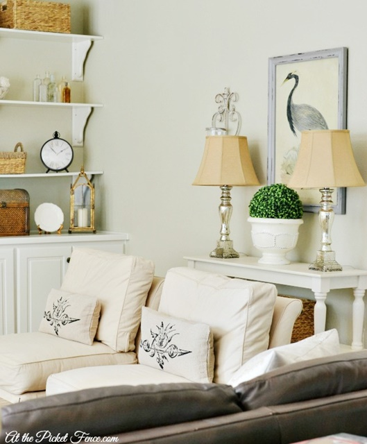 Family Room in Neutral Decor