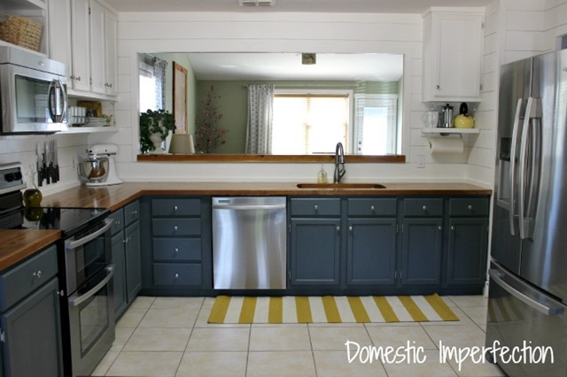 Contemporary Kitchen with Painted Cabinets