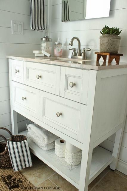 Powder Room with DIY Vanity