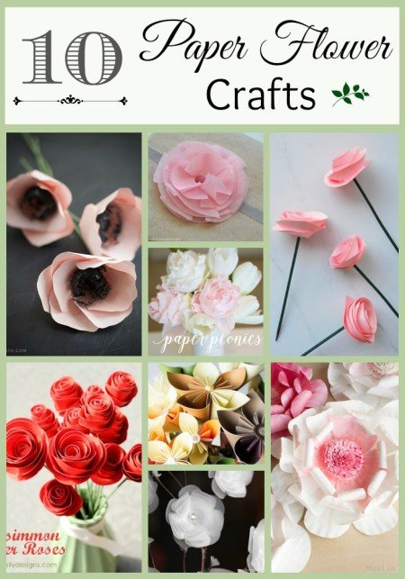 10 DIY Paper Flower Crafts