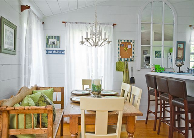 Cottage Style Dining Room at Tybee Tides