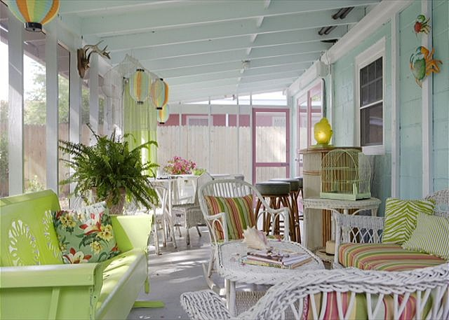 Screened Porch at Breeze Inn on Tybee Island