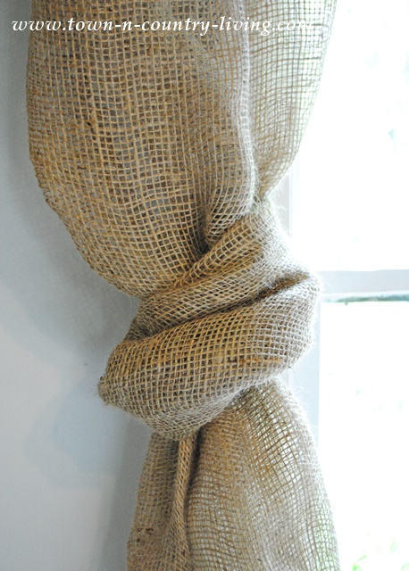 How to make a knotted burlap curtain swag