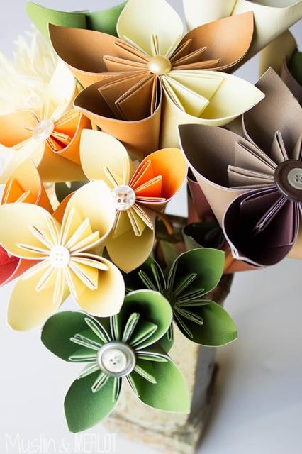 DIY Paper Kudusama Flowers