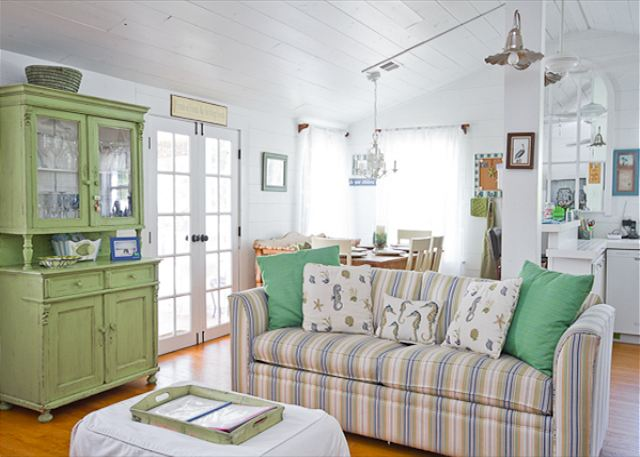Vintage Cottage Living Room at Tybee Island